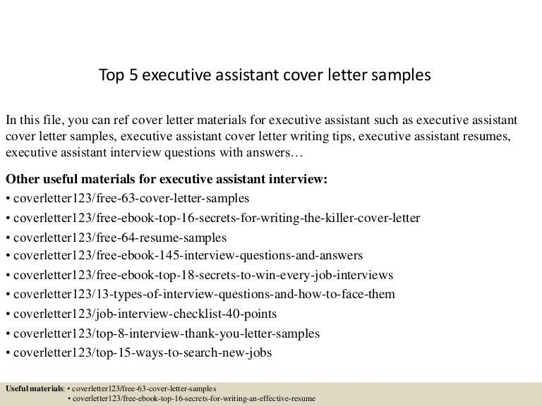 resume samples executive assistant