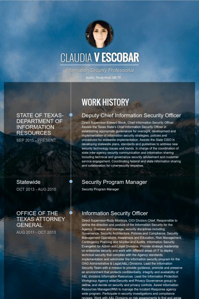 Security Officer Resume samples - VisualCV resume samples database