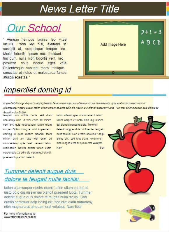 Newsletter Templates Word Excel    Free & Premium Templates ...