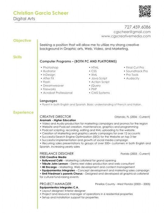 The Stylish Graphic Designer Resume Objective | Resume Format Web