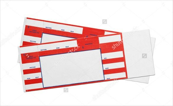 Blank Ticket Template U2013 21+ Free PSD, Vector EPS, AI, Word Format