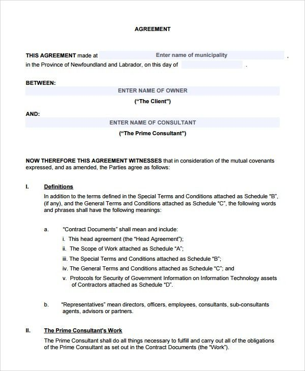 Sample Two Party Contract Template - 9+ Free Documents Download in ...