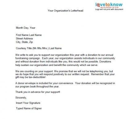 Donation Letter Sample | | How to Format a Cover Letter