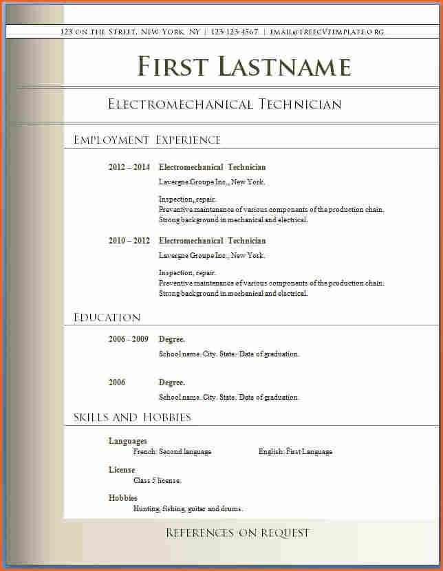 6+ Free Resume Templates Microsoft Word 2007 - Budget Template Letter
