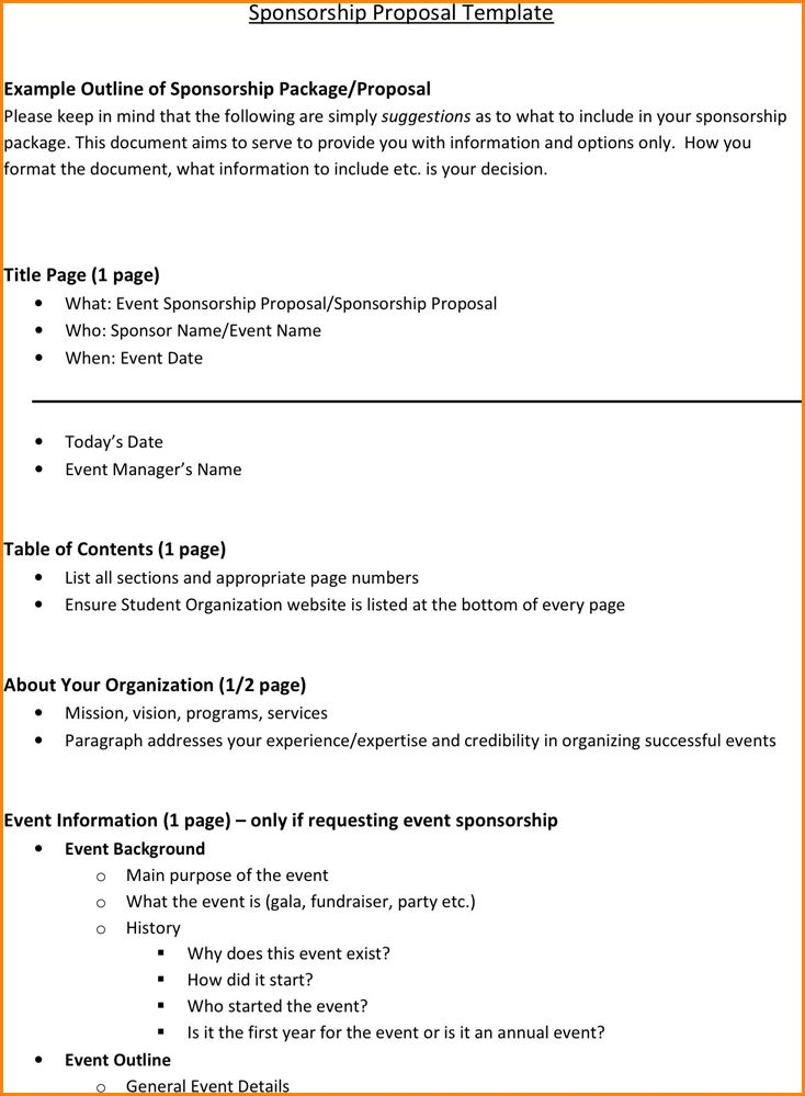 8+ event sponsorship proposal template free | receipts template