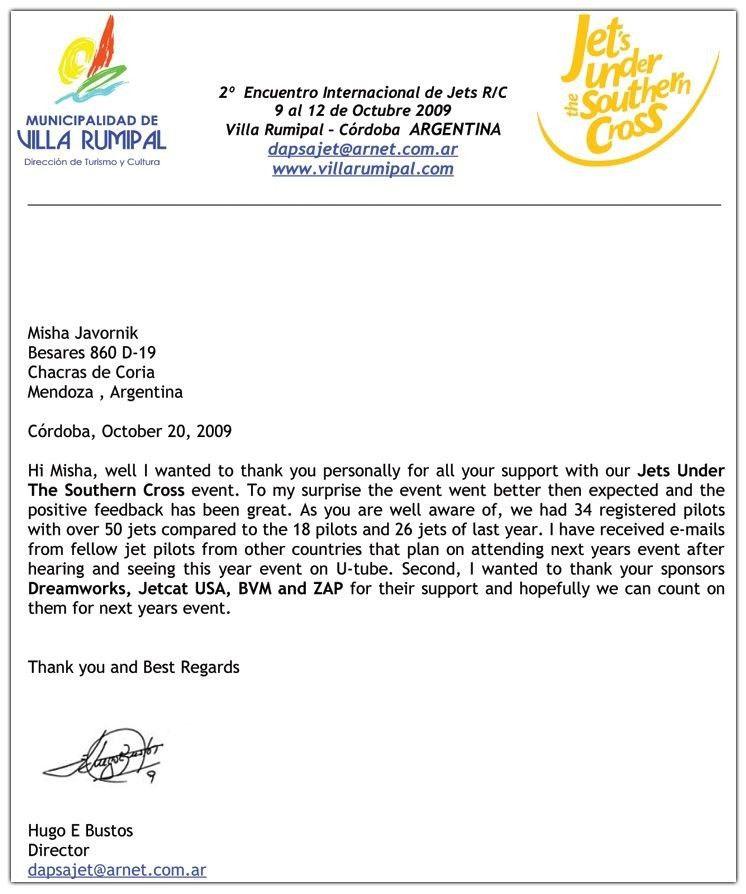Sponsor Thank You Letter. 8+ Sponsorship Thank You Letter 8+ ...