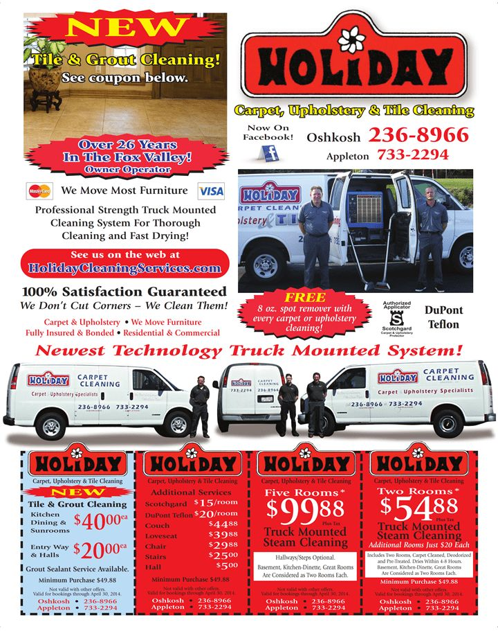 Holiday Carpet Cleaning - Coupons for Fox Cities, Appleton ...