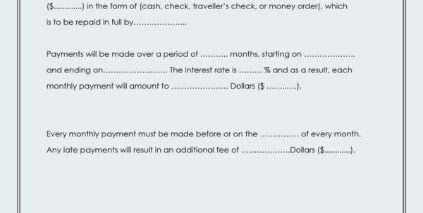 Small Loan Agreement Template Small Loan Agreement Small Loan ...