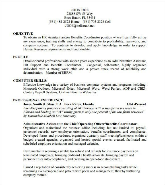 Administrative Assistant Resume - 8+ Download Free Documents in ...