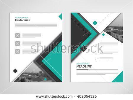 Annual Report Template Design Book Cover Stock Vector 402054337 ...
