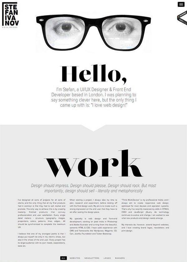 30+ Innovative Web Design Resume