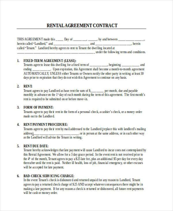 Rent Contract
