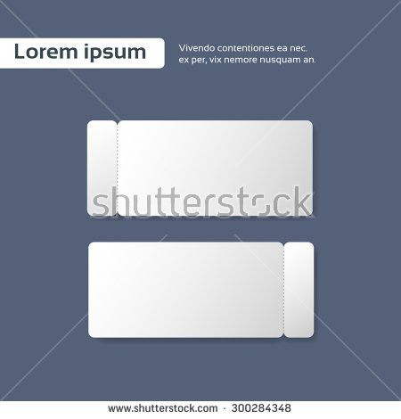 Blank Ticket Stock Images, Royalty-Free Images & Vectors ...