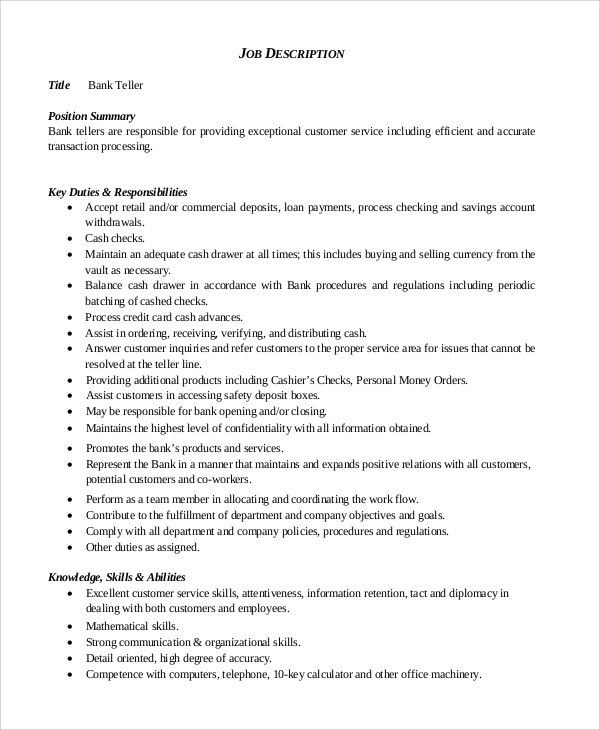Customer Service Job Description. Customer Service Data Entry Job ...