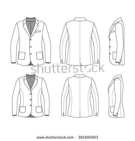 Blank Mens Womens Clothing Set White Stock Vector 381892903 ...