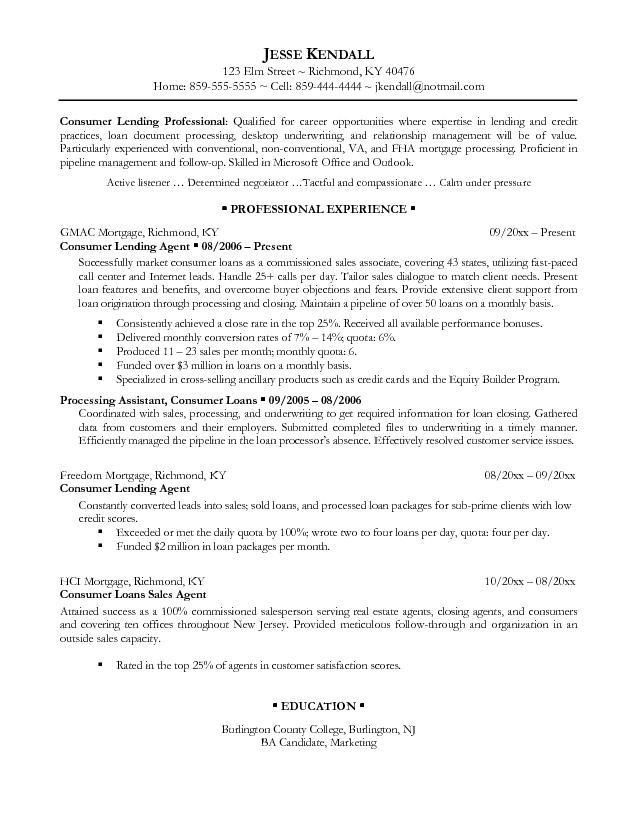 Underwriting resume cover letters