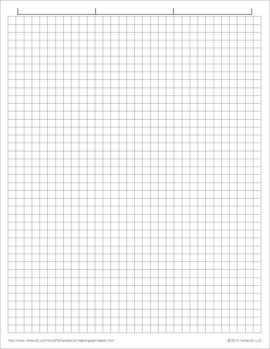 Printable Graph Paper Templates for Word