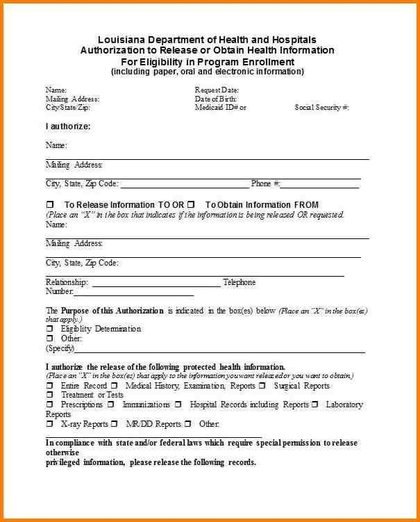 Records Release Form. Medical Records Request Template ...