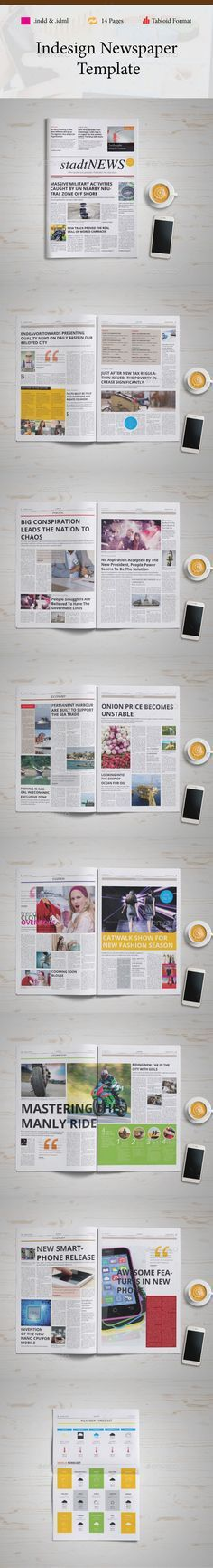 24 Pages Newspaper | Newspaper, Print templates and Newspaper design