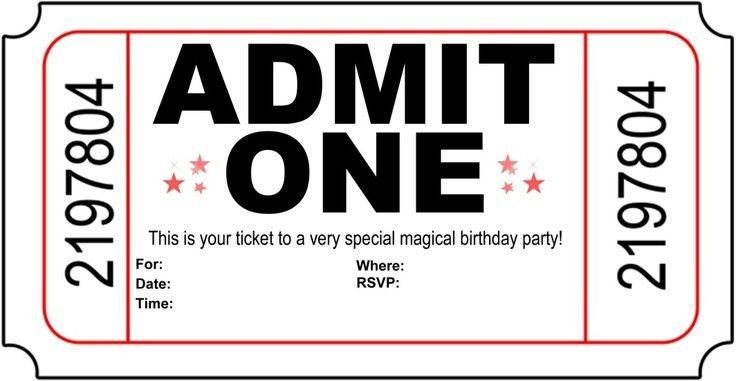 Ticket Party Invitations   oxsvitation.com