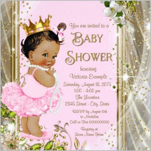 Princess Baby Shower Invitation Templates Free - iidaemilia.Com