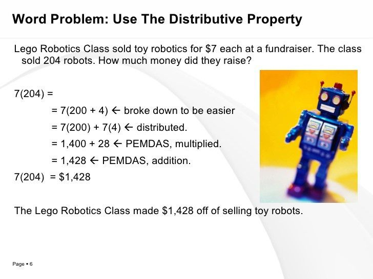 Chapter 2, Section 2: Distributive Property