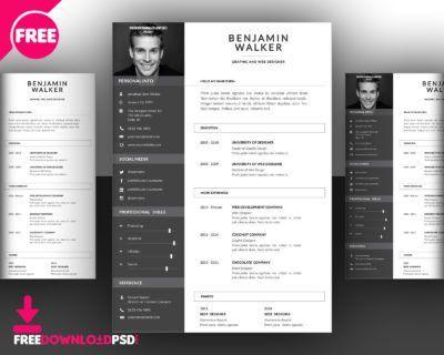 Designer CV Template Free PSD | FreedownloadPSD.com