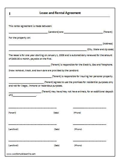 Basic Rental Agreement. Rental Agreement Template Basic Rental ...