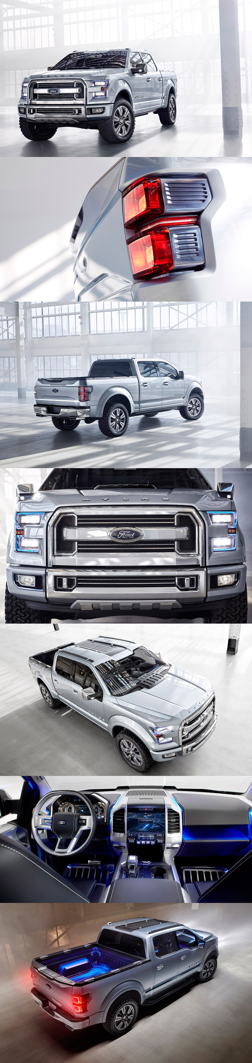 Concept to reality 2013 ford atlas vs super chief vs f 250 super duty platinum car reviews pinterest ford cars and wheels
