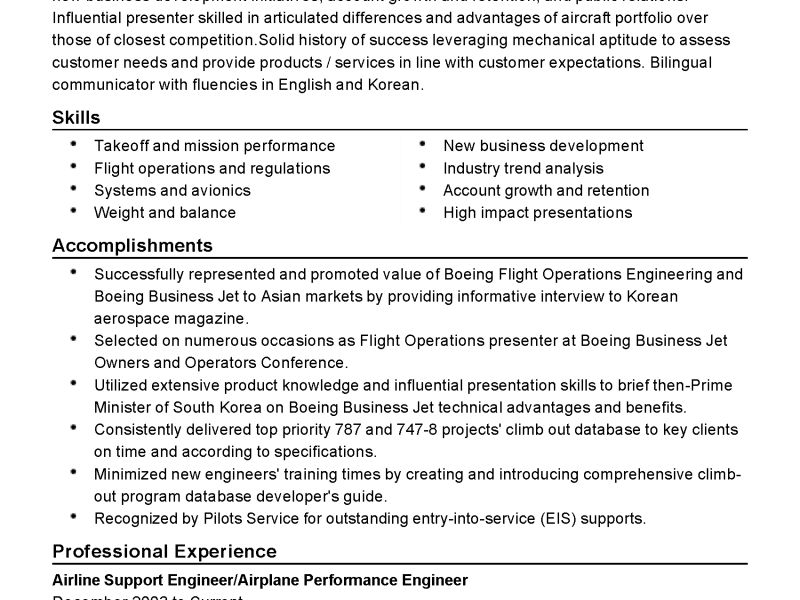 Pleasing Boeing Mechanical Engineer Sample Resume Interesting ...