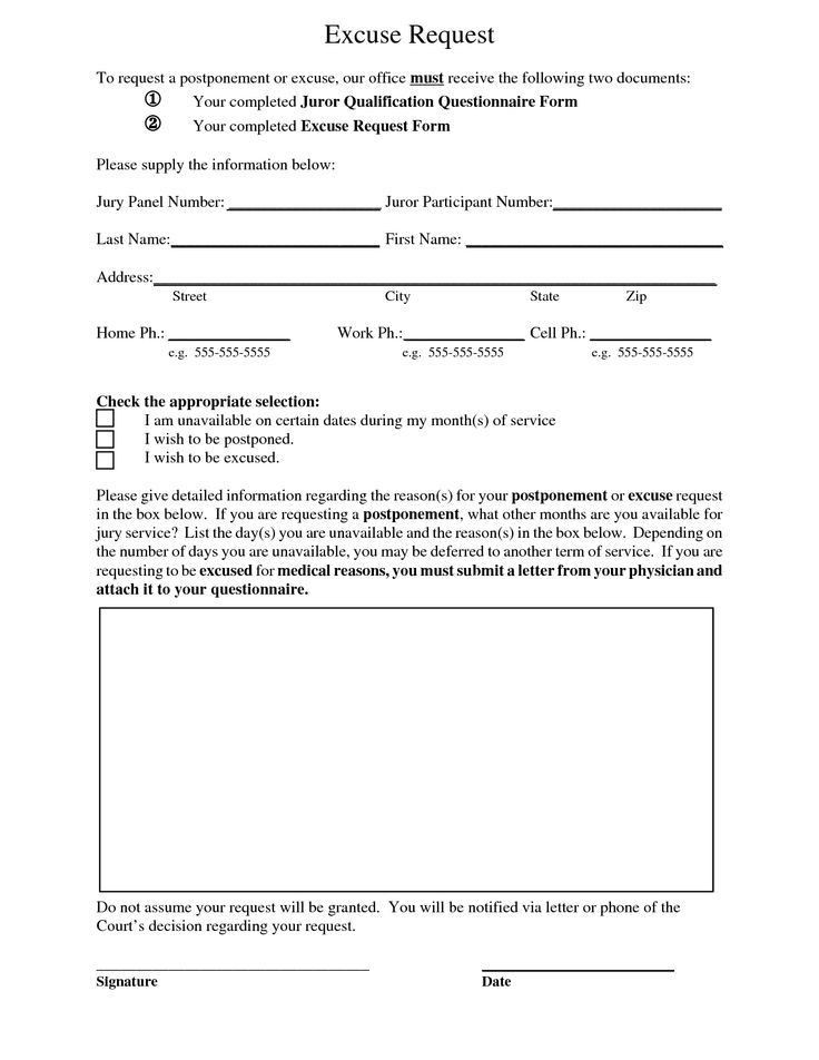 Doctors Excuse Letter Templates | scope of work template ...