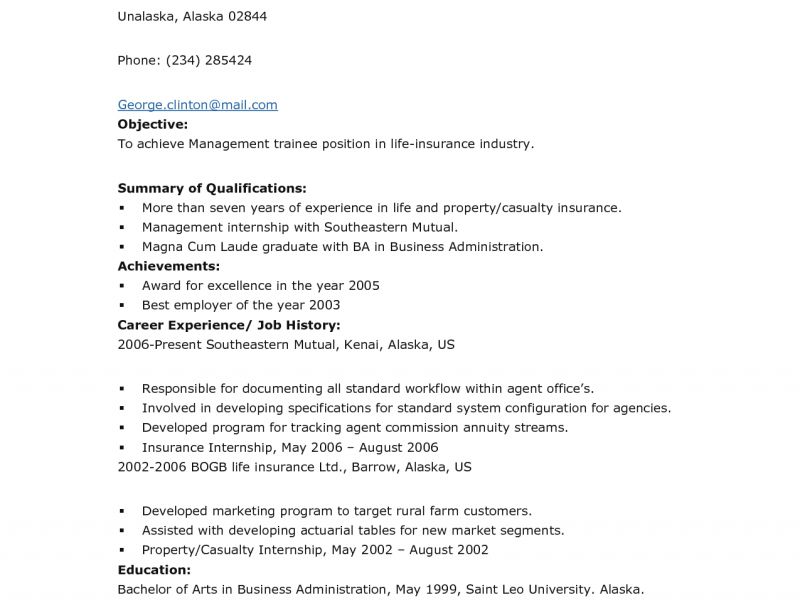 Pleasurable Inspiration Business Administration Resume 4 Cover ...