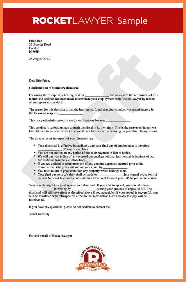 5+ termination appeal letter sample | Appeal Letter 2017