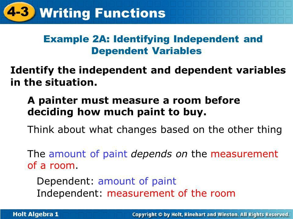 Objectives Identify independent and dependent variables. - ppt ...