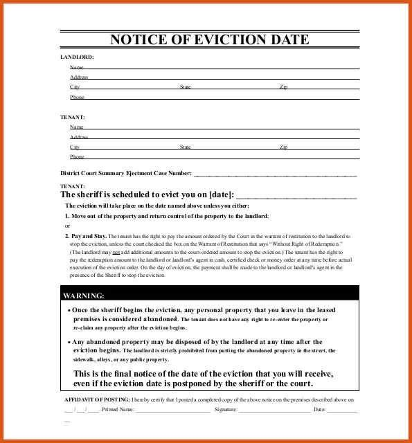 Eviction Notice Letter | General Resumes  Eviction Warning Letter