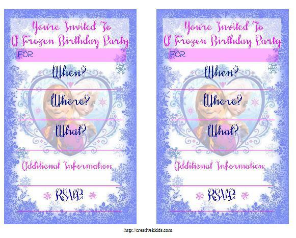 FREE Frozen Birthday Party Invitation and Thank You Printables ...