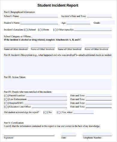 100+ Incident Report Form Template | Workplace Accident Report ...