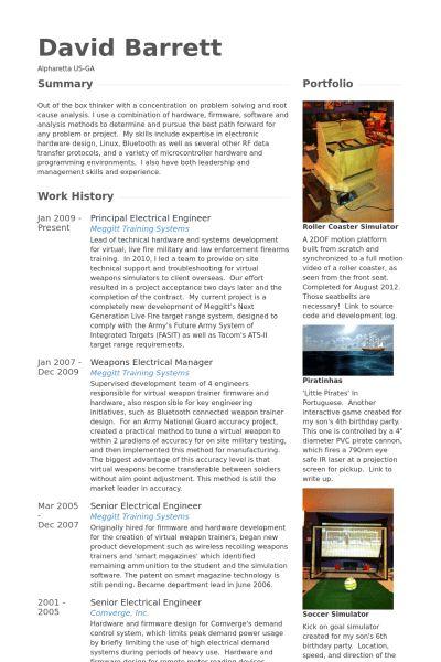 Electrical Engineer Resume samples - VisualCV resume samples database