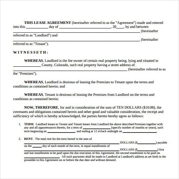 Sample Simple Lease Agreement Template - 9+ Free Documents in PDF ...