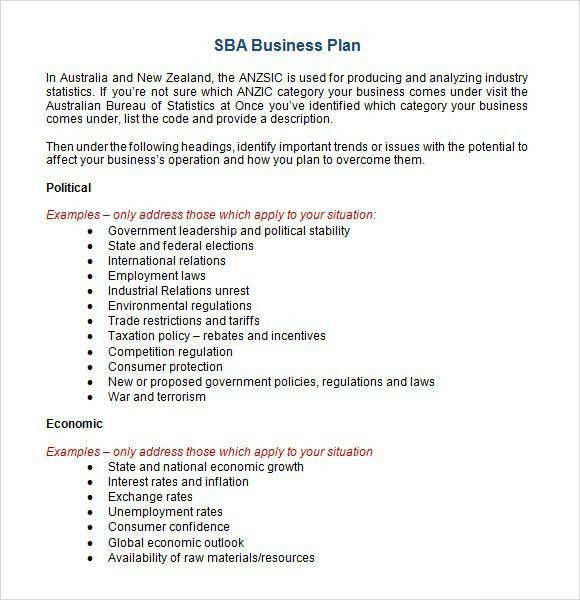 Sba Business Plan Template | Best Example Of Business Template