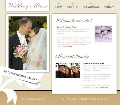 Free website templates with Wedding theme - 1