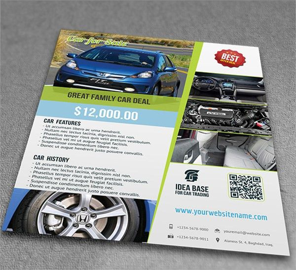 Car For Sale Flyer Template   13+ Download In Vector EPS, PSD