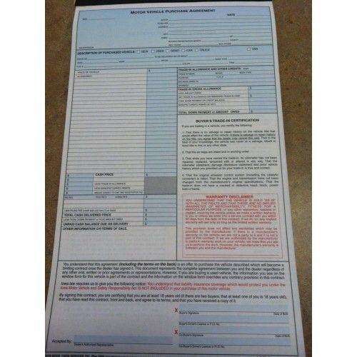 CPO5 Iowa Motor Vehicle Purchase Agreement - Auto Dealer Forms ...