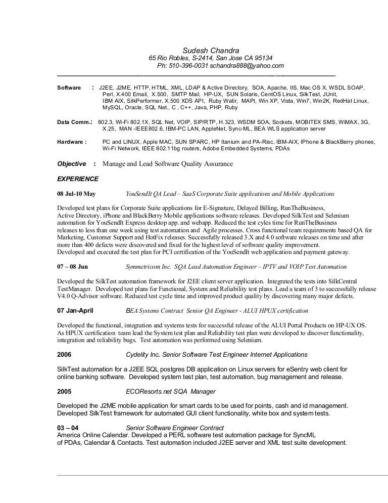 Download Contract Quality Engineer Sample Resume ...