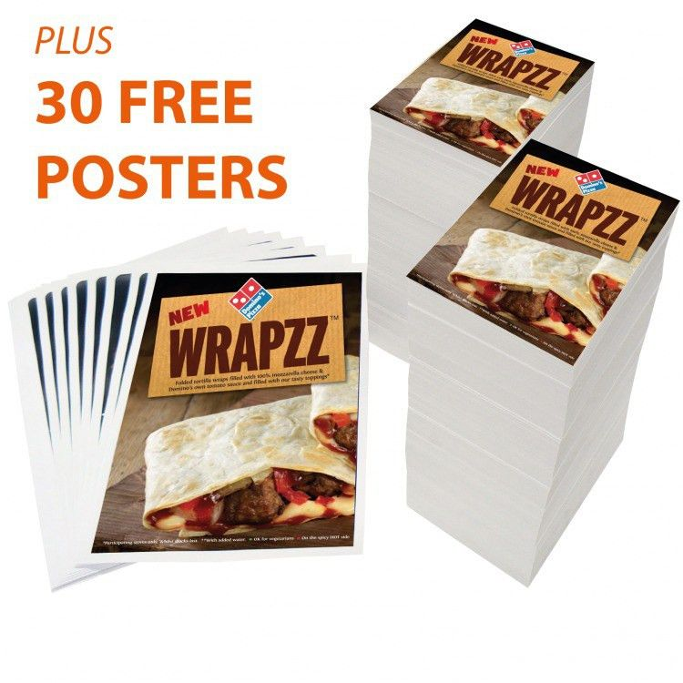 B4 Folded Menu Leaflet Deal with 30 Free A3 Posters | eColour Print