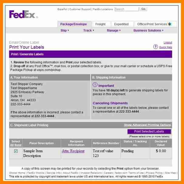 8+ sample fedex tracking number | it cover letter