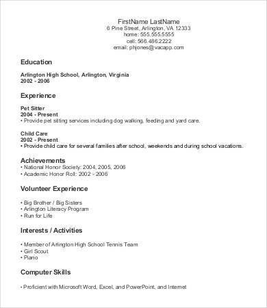 Entry Level Resume Template - 9+ Free Word, PDF Documents Download ...