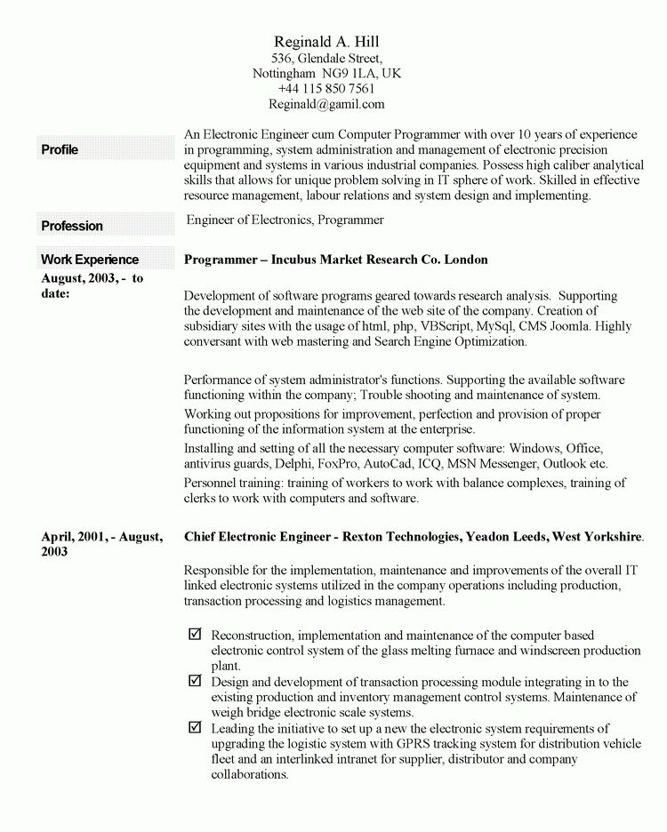 things you can include in your resume profile. resume examples ...