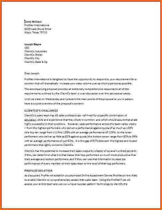 9+ sample business proposal letter for services | receipts template