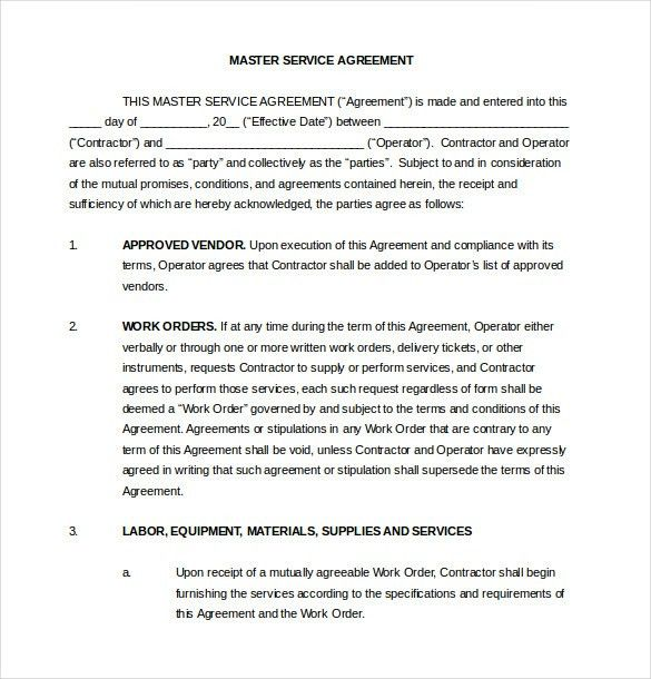 Vendor Contract Template. Vendor Agreement Template – 12+ Free ...